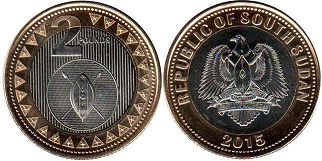 South Sudan 2 pounds 2015