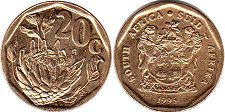 ЮАР 20 центов - South Africa 20 cents 1995