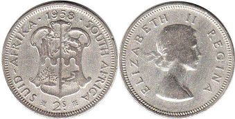 South Africa 2 shillings 1958