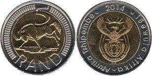 South Africa 5 rand 2014