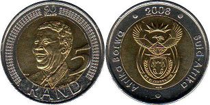 South Africa 5 rand 2008
