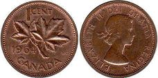 Канада 1 цент - Canada 1 cent 1964
