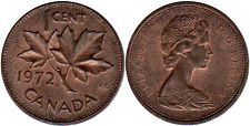 Канада 1 цент - Canada 1 cent 1972