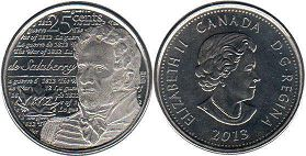 Канада 25 центов - Canada 25 cents 2013