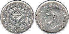 South Africa 6 pence 1938