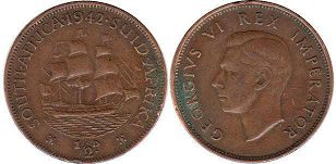 South Africa 1/2 penny 1942