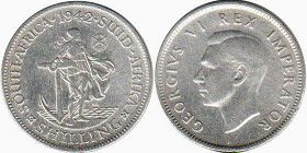 South Africa 1 shilling 1942