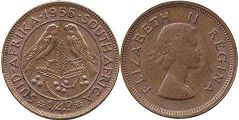 South Africa 1/4 penny 1955