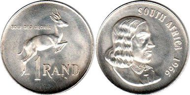 South Africa 1 rand 1966