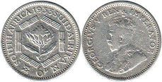 South Africa 6 pence 1933