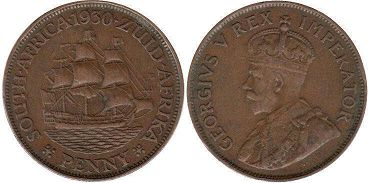 South Africa 1 penny 1930
