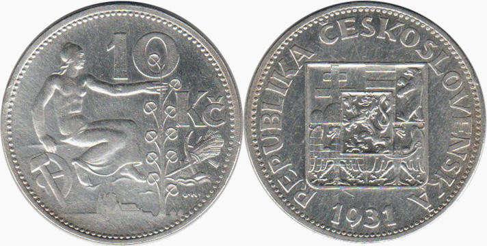 Монета чехословакия 10 крон описание 20 копеек 1946 года