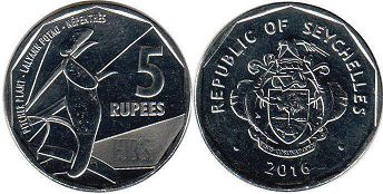 Seychelles 5 rupees 2016
