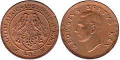 South Africa 1/4 penny 1950