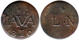 coin Java duit 1810