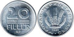 монета Венгрия 20 филлеров 1983