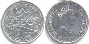 Канада 25 центов - Canada 25 cents 2000