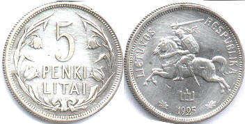 Купить 20 центу литва 1925 года стилизованный олень