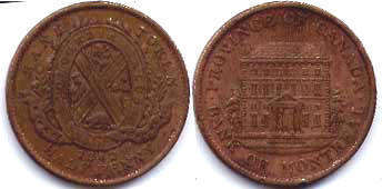 Lower Canada 1/2 penny 1842