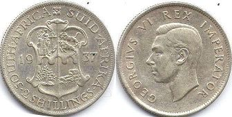 South Africa 2 shillings 1937