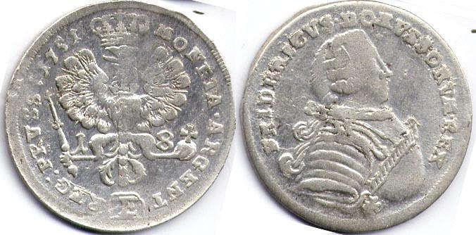18 грошей 1735г пруссия стоимость новых монет