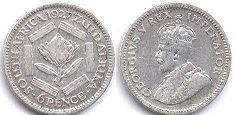 South Africa 6 pence 1927