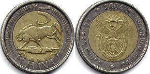 South Africa 5 rand 2004
