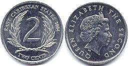 Eastern Caribbean States 2 cents 2004