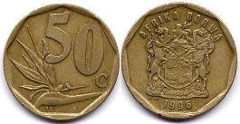 ЮАР 50 центов - South Africa 50 cents 1996