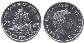 Eastern Caribbean States 25 cents 2004
