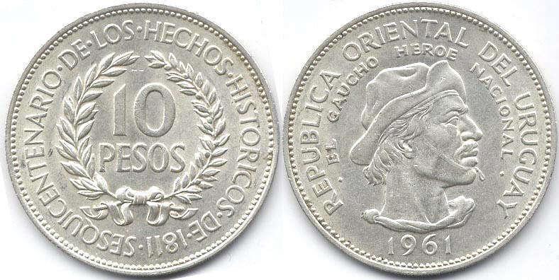 Монеты уругвая 50 groszy 2010 цена
