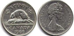 Канада 5 центов - Canada 5 cents 1965