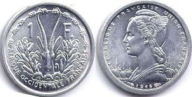 French West Africa 1 franc 1948