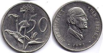 ЮАР 50 центов - South Africa 50 cents 1976