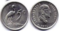 ЮАР 5 центов - South Africa 5 cents 1976