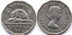 Канада 5 центов - Canada 5 cents 1960