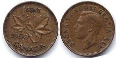 Канада 1 цент - Canada 1 cent 1950
