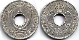 EAST AFRICA & UGANDA 1 cent EDWARD VII