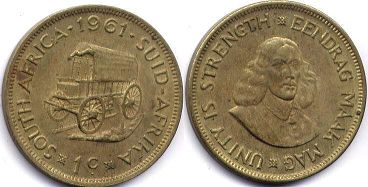 ЮАР 1 цент - South Africa 1 cent 1961