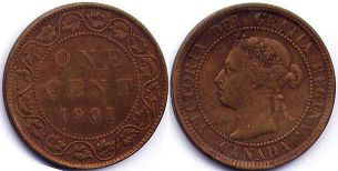 Канада 1 цент - Canada 1 cent 1901