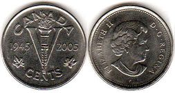 Канада 5 центов - Canada 5 cents 2005