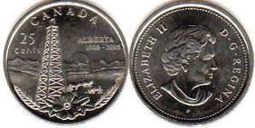Канада 25 центов - Canada 25 cents 2005