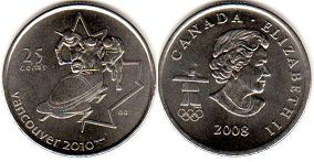 Канада 25 центов - Canada 25 cents 2008