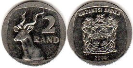 ЮАР 2 рэнда - South Africa 2 rand 2000