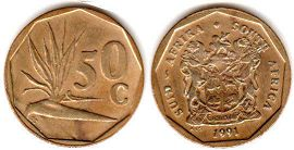 ЮАР 50 центов - South Africa 50 cents 1994