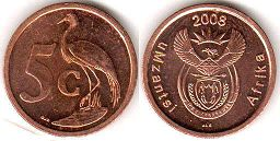 ЮАР 5 центов - South Africa 5 cents 2008