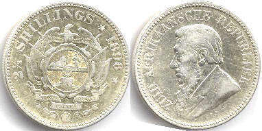 South Africa 2,5 shillings 1896